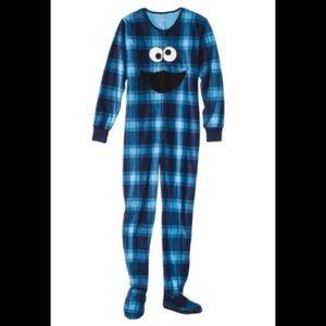NWT! Sesame Street blue Cookie Monster onesie XL